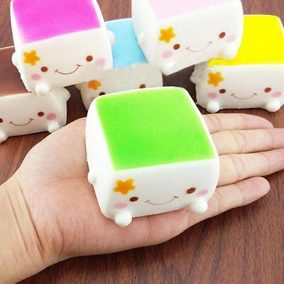 NEW Cute Colorful Soft Squishy Chinese Tofu Adorable Expression Smile Face Toys