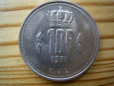 1971  Luxembourg 10 Franc Coin Collectable