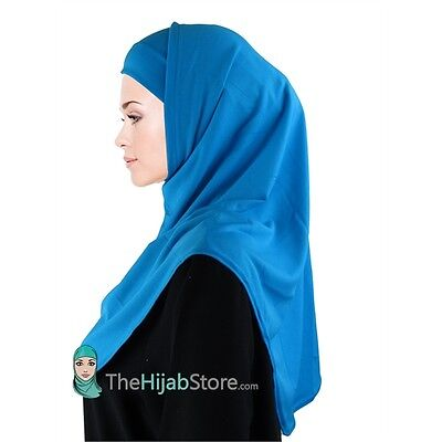 TheHijabStore Soft Polyester 2 Piece Al-Amira Princess Hijab-20 Colors