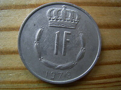 1978  Luxembourg 1 Franc Coin Collectable