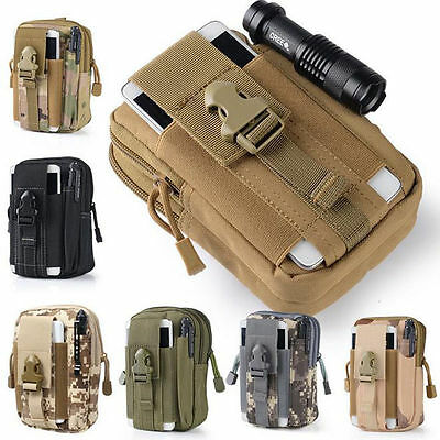Tactical Army Duty Waist Bag Phone Case Fanny Pack Holster Hip Belt Molle Pouch