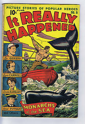 It Really Happened #5 Pines Pub ,1946 CANADIAN EDITION, Lou Gehrig story