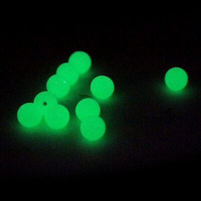 50/100/20pc Fishing Bait Glow Fluorescence Luminous Beads Space Beans Gear