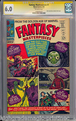 Fantasy Masterpieces #1 Cgc 6.0 Ss Stan Lee Signed Cgc # 1183431017
