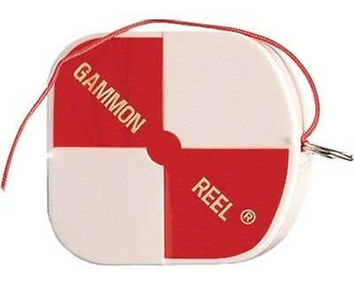Gammon Reel White & Orange 6.5 Ft. for Plumb Bob, Retractable String Ships Free!
