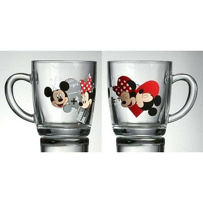 1 Disney Minnie Love Mickey Maus  Kakaobecher Becher Tasse Kaffeebecher Glas