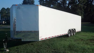 New 2016 8.5x34 Enclosed Car Hauler Trailer with Triple 5200# Axles