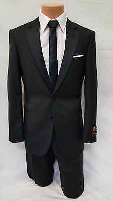 New Mens Classic Black Traditional Tuxedo Modern Casual Gentlemens All Size Set