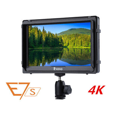 E7S 7'' 4K Field Monitor 1920x1200 for Cameras Canon A7S2 Mark 5D2/5D3 Sony FS7