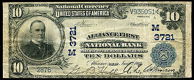 1902 $10 Alliance First Nb Of Alliance, Oh National Currency Ch. #3721