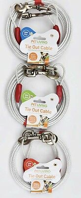 Tie Out Cable Dog/Cat/Pet 3m 6m 9m X 5mm plastic cover Heavy Duty!