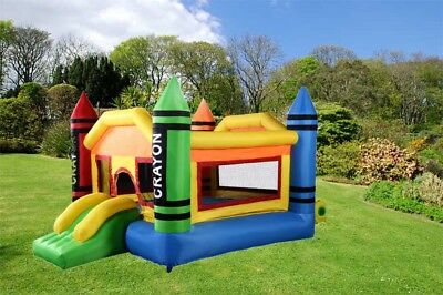 Inflatable Bounce House Jumper Slide Bouncer Outdoor Kids Fun Play Center Castle