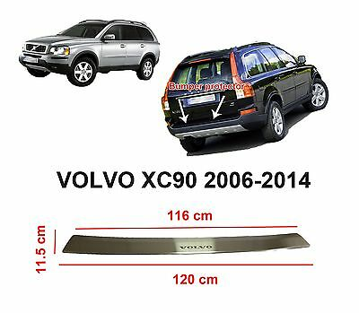 Volvo XC90 2006-2014 Rear Bumper Profiled Protector Stainless Steel Scuff Cover