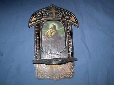 Antique-Old-Handmade-Orthodox-Wooden-Printed-Icon-Iconostasis-Jesus Christ