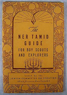 Vintage Ner Tamid Guide For Boy Scouts and Explorers Jewish Committee BSA