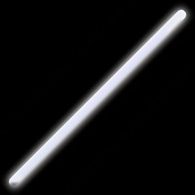 4 X White Glow Sticks 12'' (12 inches) Light Festival Party / Camping / Fishing