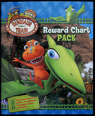 Dinosaur Train Activity Workbook With Reward Chart, Stickers Fun Art Craft Kids