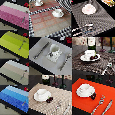 YAZI PVC Placemats Heat Insulation Home Dining Tableware Decor Table Mats Pad