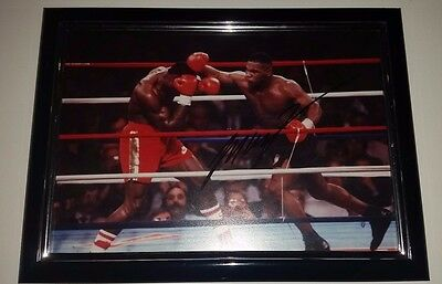 Iron Mike Tyson Hand Signed W/coa Framed Autographed Baddest Man On The Planet!!