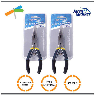 2 x Jarvis Walker Pliers Bent Nose Curved Economy 6 Inch Tackle Fishing