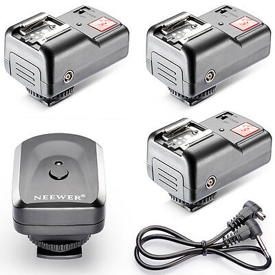 Neewer 4 Channels Wireless Flash Trigger +3 Receivers for Canon Nikon Pentax USA
