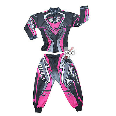 Wulfsport Pink Toddler Kit 2017 Age 0-2 Motocross MX Trouser Top Jersey Baby