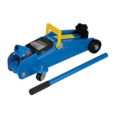 Silverline Hydraulic Trolley Jack 2 Tonne Car Van Automotive Workshop