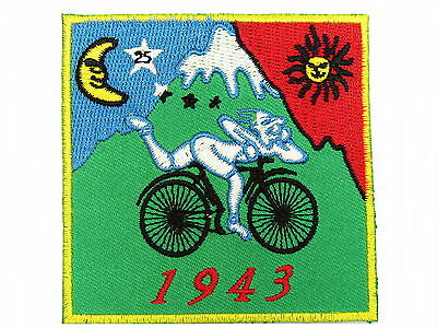 1943 Bicycle Day LSD Albert Hofmann Acid Iron On Embroidered Shirt Bag Patch