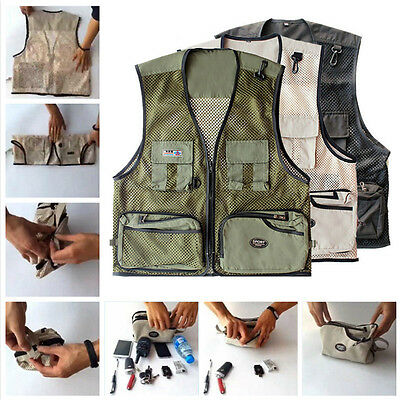 UK Magic Transformable QuickDry MultiPocket Traveler Fishing Vest Outdoor Jacket