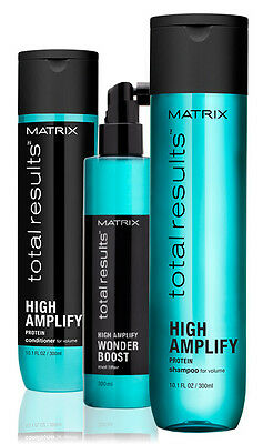 MATRIX NEW TOTAL RESULTS HIGH AMPLIFY SHAMPOO & CONDITIONER 300ml + WONDER BOOST