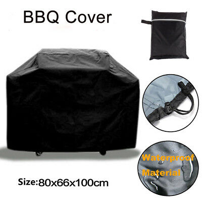 """32"""" 190T BBQ Gas Grill Cover Black Barbecue Heavy Duty Waterproof Outdoor Patio"""