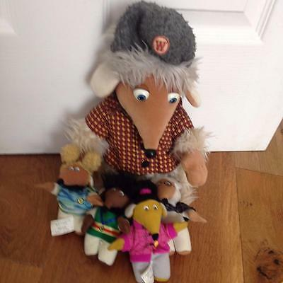 "Vintage Golden Bear 1998 Womble Soft Toy 11"" and little McDonalds ones g16"