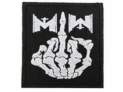 MOTIONLESS IN WHITE Finger MIW Iron On Sew On Embroidered Badge Patch