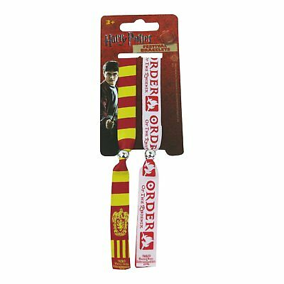 2 x Harry Potter Gryffindor Festival Woven Double Wristbands Bracelets Official