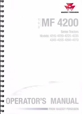Genuine Massey Ferguson 4200 Series Operators Manual