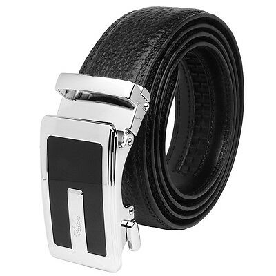Falari® Men's Genuine Leather Dress Ratchet Belt 35mm Adjustable Size 7013