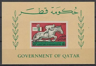 Qatar 1966 ** Bl.14 Olympische Spiele Olympic Games, new currency