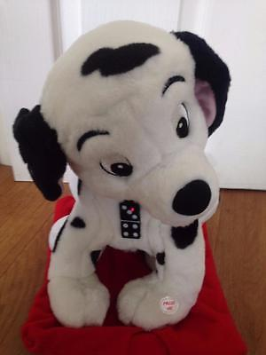 "Toy Options Interactive Disney Domino 101 Dalmatians Soft Toy 14"" VGC g25"
