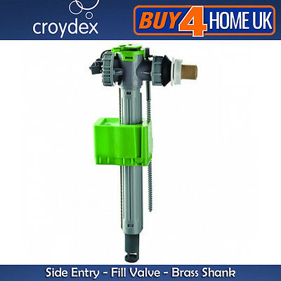 Croydex Telescopic Side Entry Fill Valve - Brass Shank Cistern