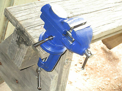50 mm Table vice with anvil self mounting to bench