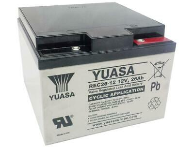Yuasa REC26-12 26ah Golf / Mobility Battery for Powakaddy Wheelchair YPC26-12