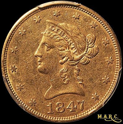 1847 XF det. PCGS secure! 10$ Liberty Gold Eagle w/Natural Look!! Free Shipping!
