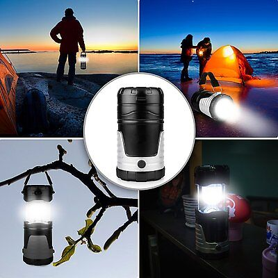 US PLUG LED Solar Rechargeable Lantern Outdoor Camping Hiking Fishing Lamp Light