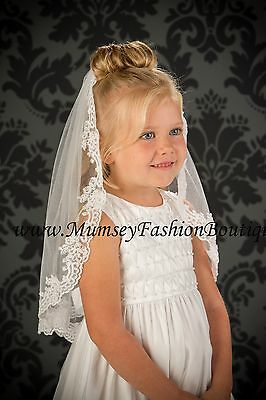 FIRST COMMUNION FLOWER GIRL VEILS Style Number: M5-201-8L