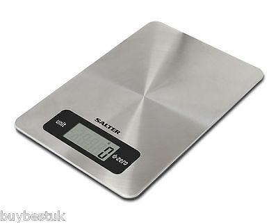 Salter 5kg Stainless Steel Aquatronic Electronic Digital Kitchen Scales - NEW