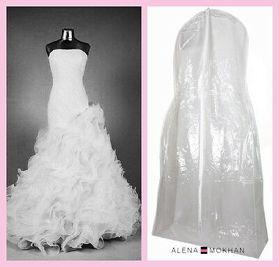 Monster Huge Extra Large Crystal Clear Vinyl Wedding Gown Bag Dress Garment Bag
