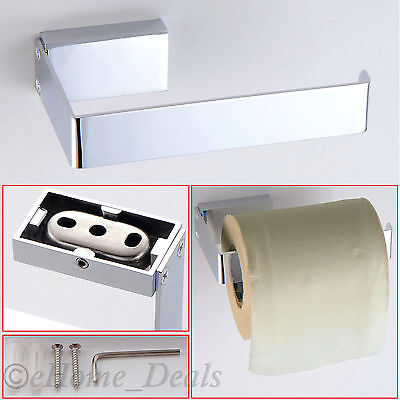 Modern Bathroom Accessory Wall Mounted Toilet Roll Holder Chrome With Fittings