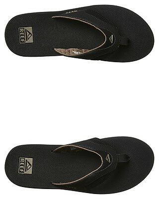New Reef Men's Fanning Thong Soft Mens Shoes Black