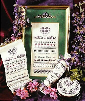 Victoria Sampler - LAVENDER HEARTS - set of 3 items with all threads included