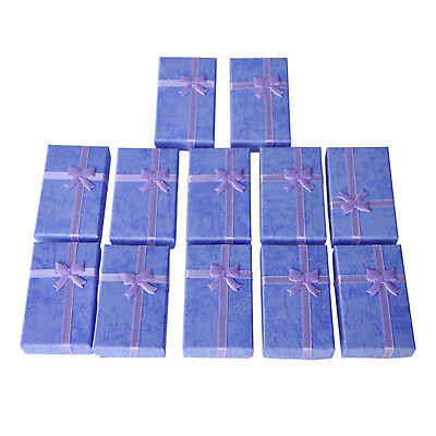 12x Purple Card Jewelry Gift Box for Pendant Bracelet Bangle Earring Wedding DT